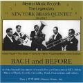 【輸入CD】バッハ・アンド・ビフォー/Bach and Before/ニューヨーク・ブラス・クインテット【金管アンサンブル】
